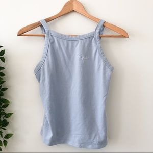 Garage Baby Blue Embroidered Tank Top